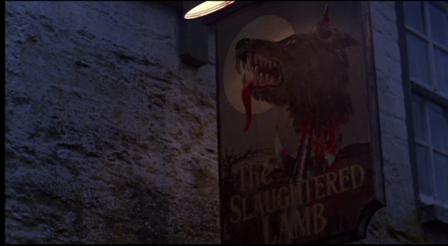 Sign for The Slaughtered Lamb pub in 'American Werewolf in London'