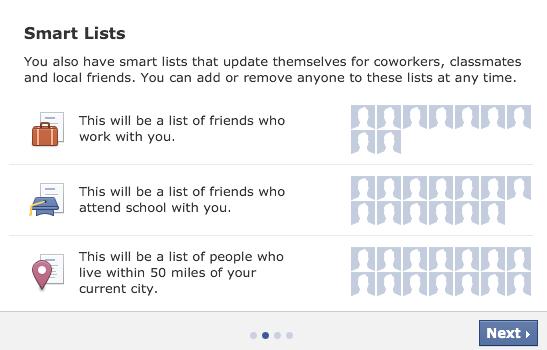 Facebook Smart Lists