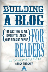 Building a Blog For Readers - Front Cover